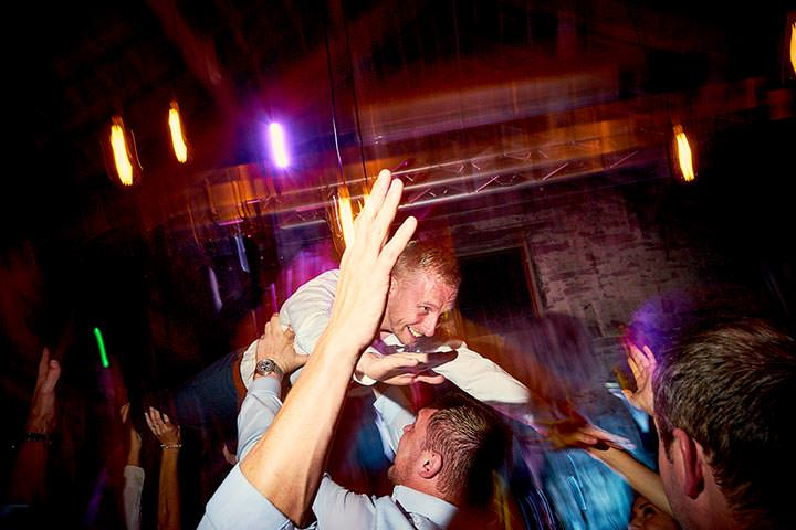 wedding guest crowd surfing