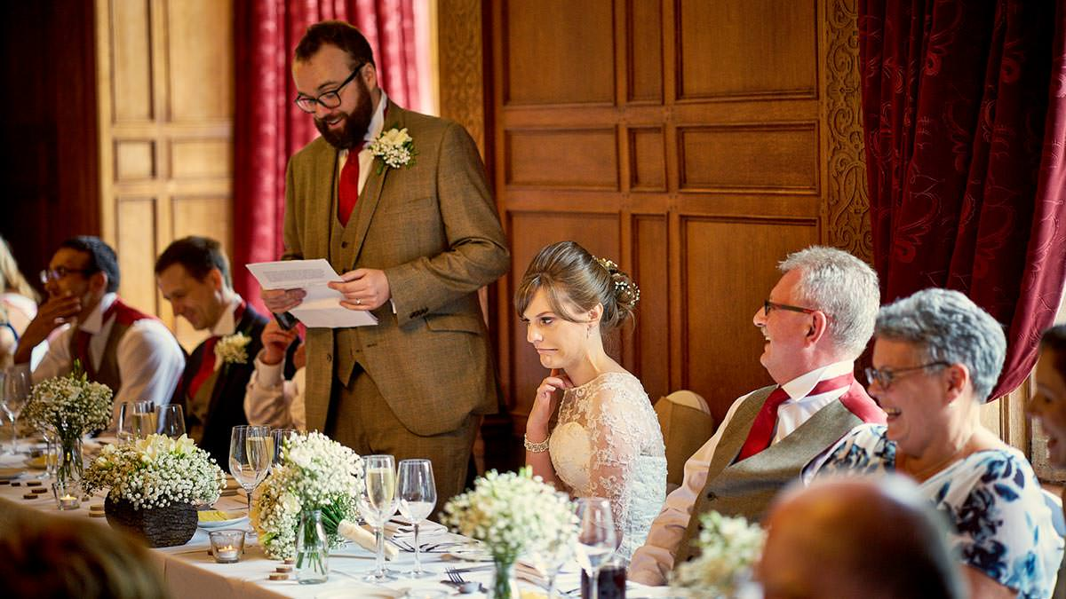 Groom's wedding speech at Inglewood Manor