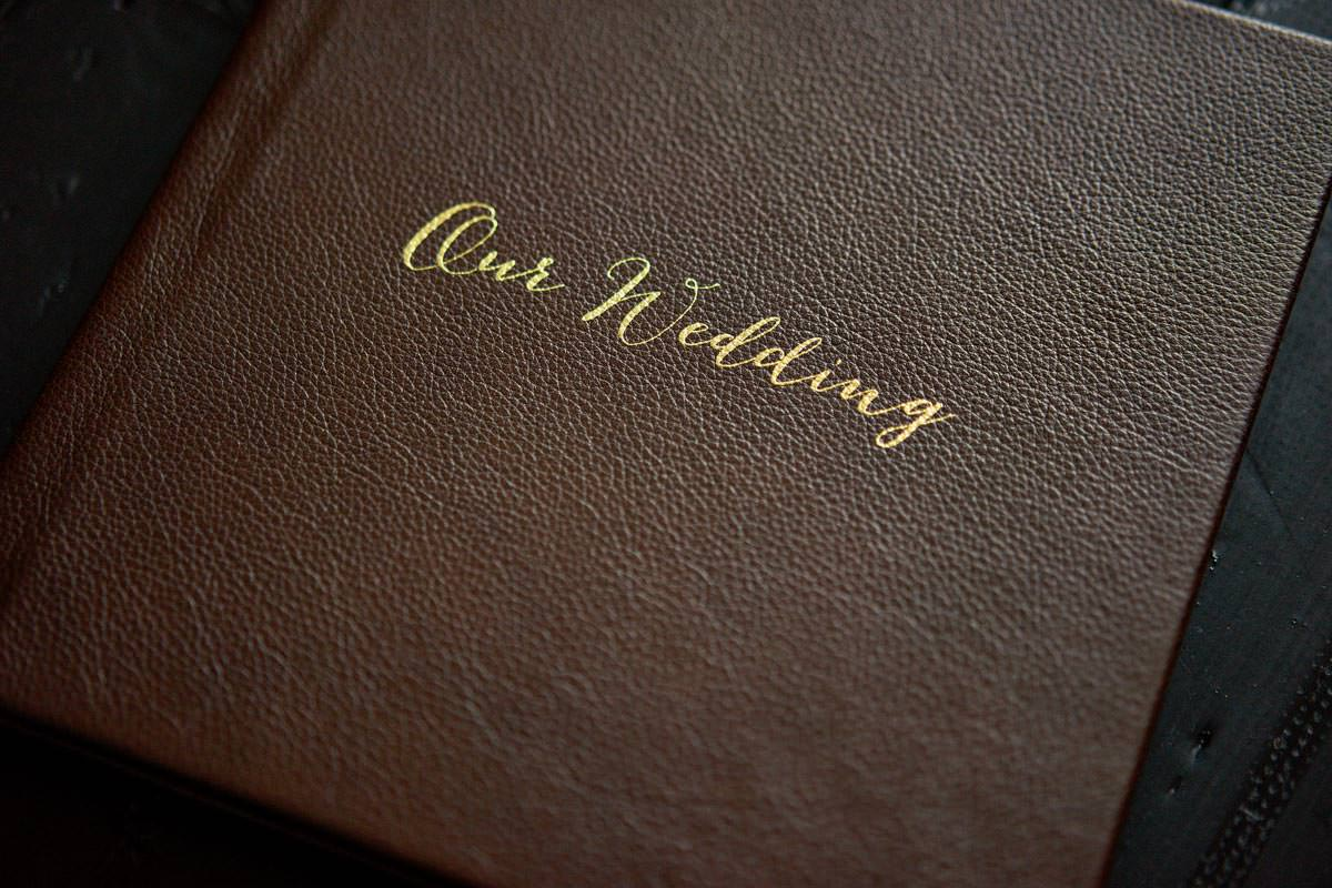 Folio Album With Gold Leaf Cover Personalisation