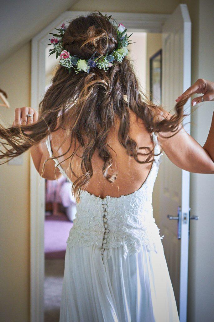 Bride's Dress & Hair