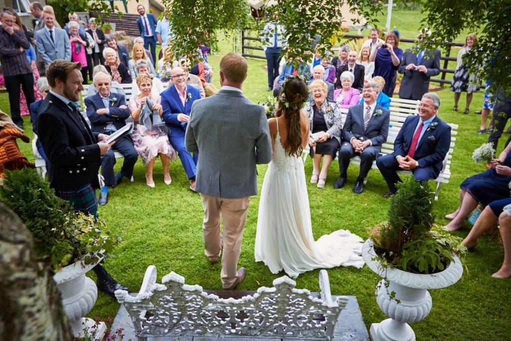 Bride & Groom Garden Wedding Ceremony