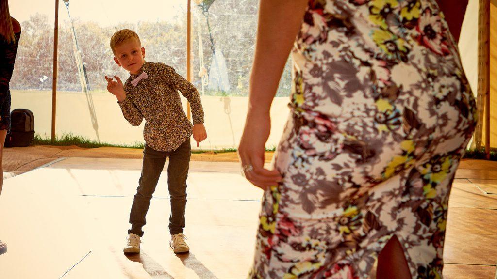Trendy boy dancing