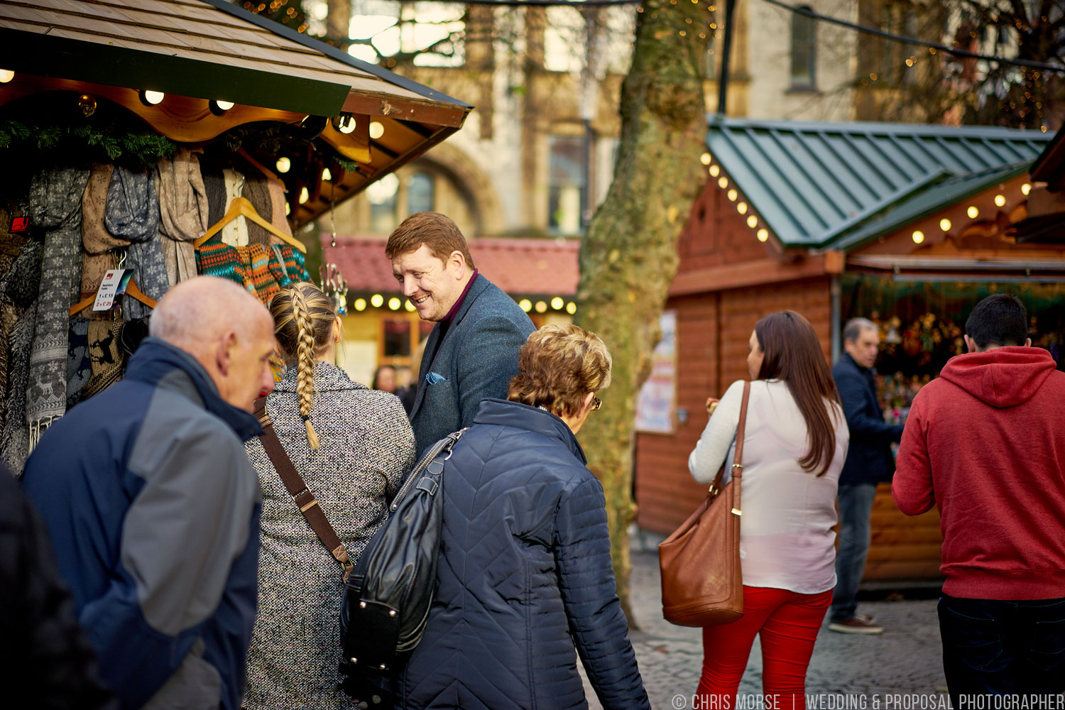 Couple At Manchester Christmas Markets
