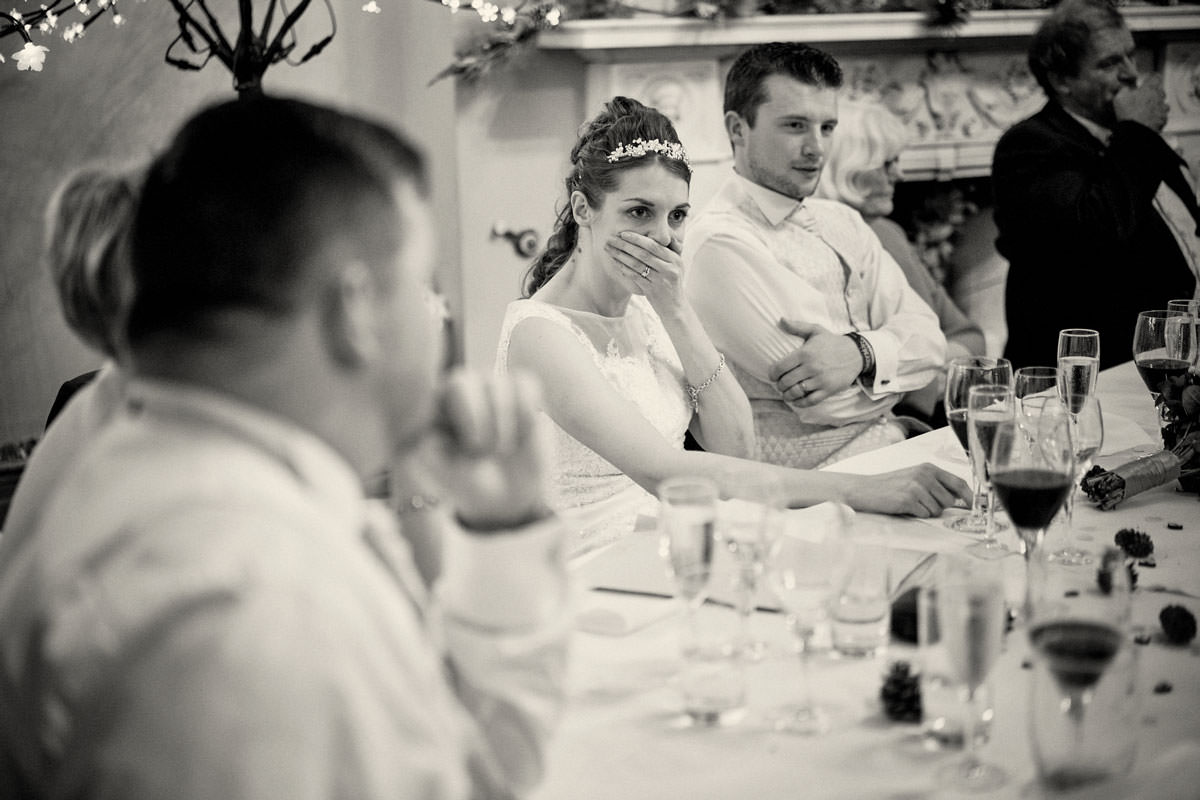 bride shocked at speech