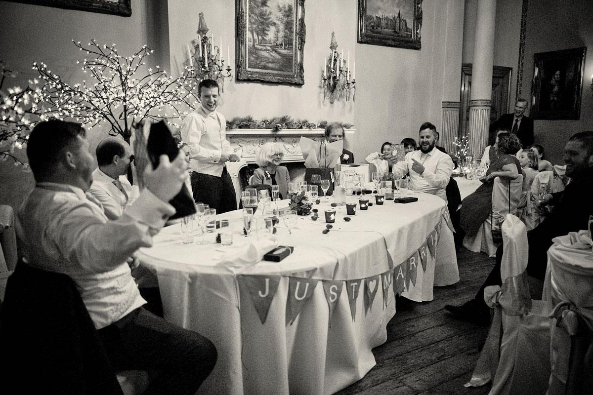 groom making his wedding day speech