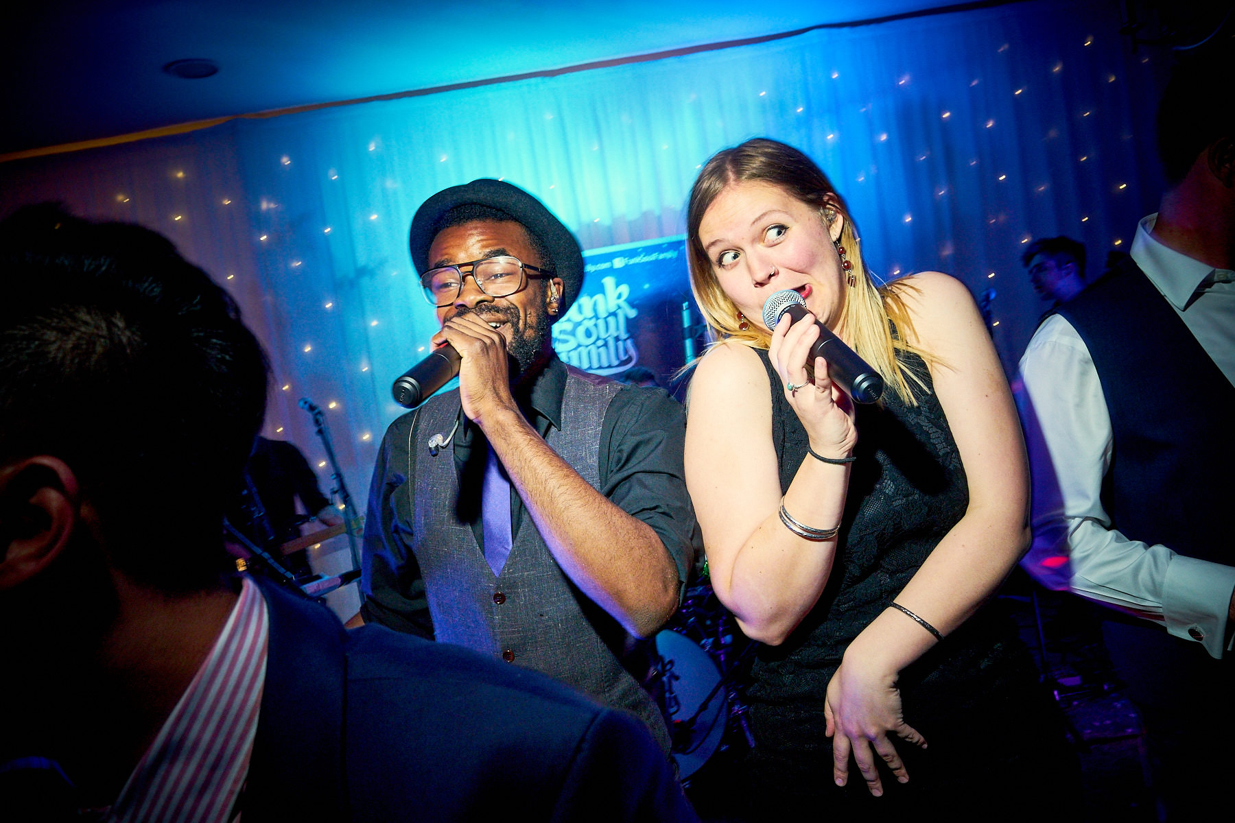 Funk Soul Family live band singing at North West Wedding