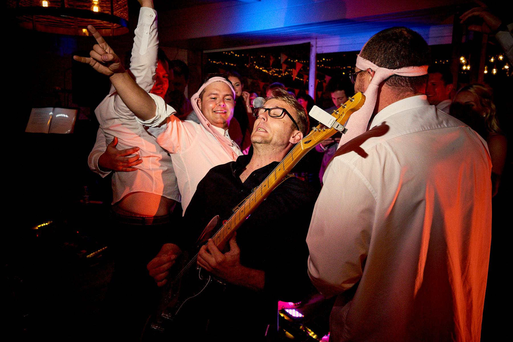 Anthemic Live Band singing at Plas Dinam Wedding