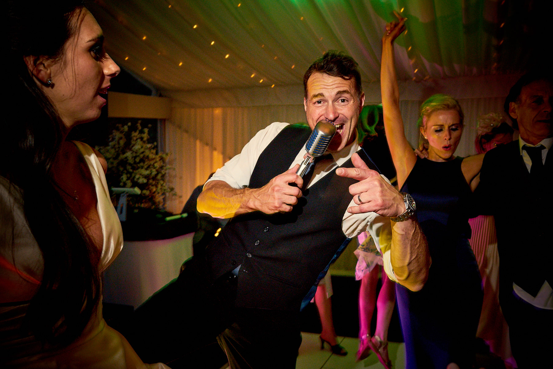 Howard Wing singing live at Capesthorne Hall, Cheshire, Wedding