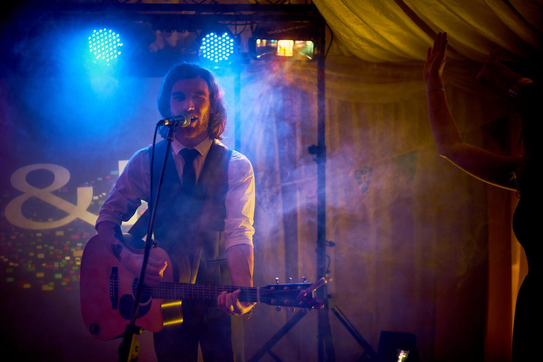 Matt Sloan, Liverpool Singer Songwriter Performing at North Wales Wedding