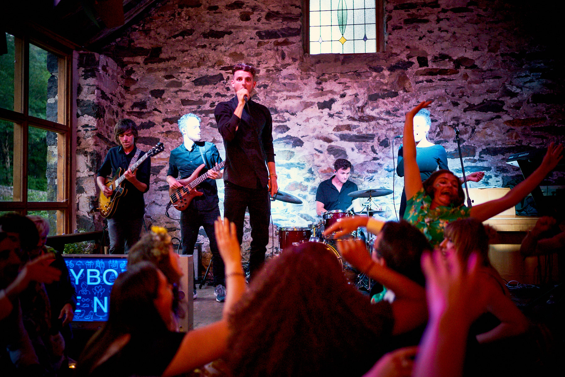 Something For The Weekend Live Wedding Band Playing at Nant Gwynant Barn