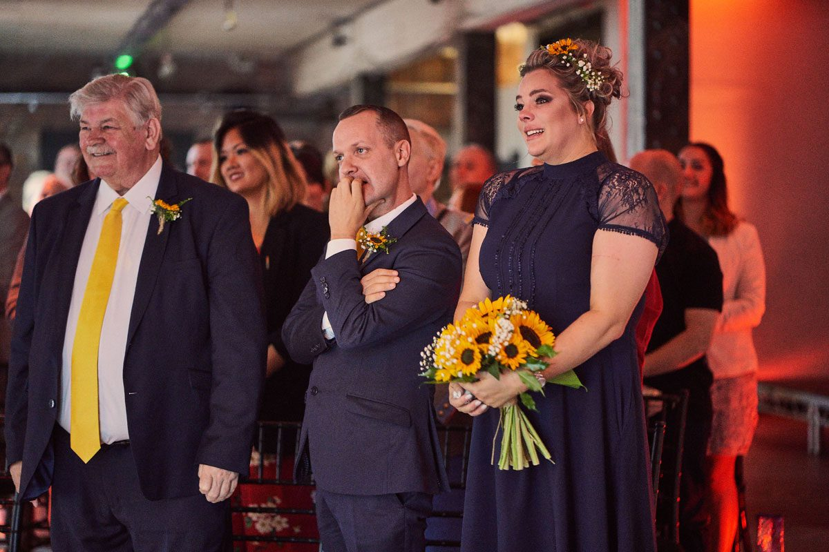 emotional Bridesmaids and Best Man