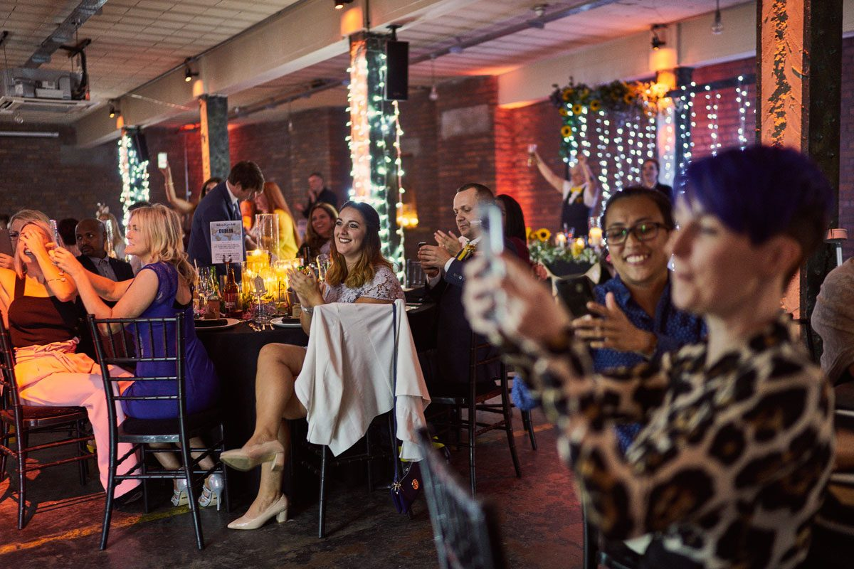 guests shocked by surprise wedding entertainment
