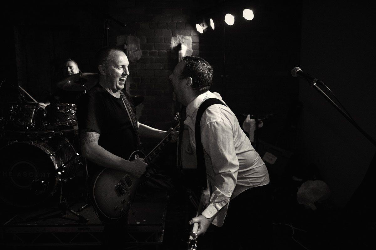 wedding band rocking Victoria Warehouse