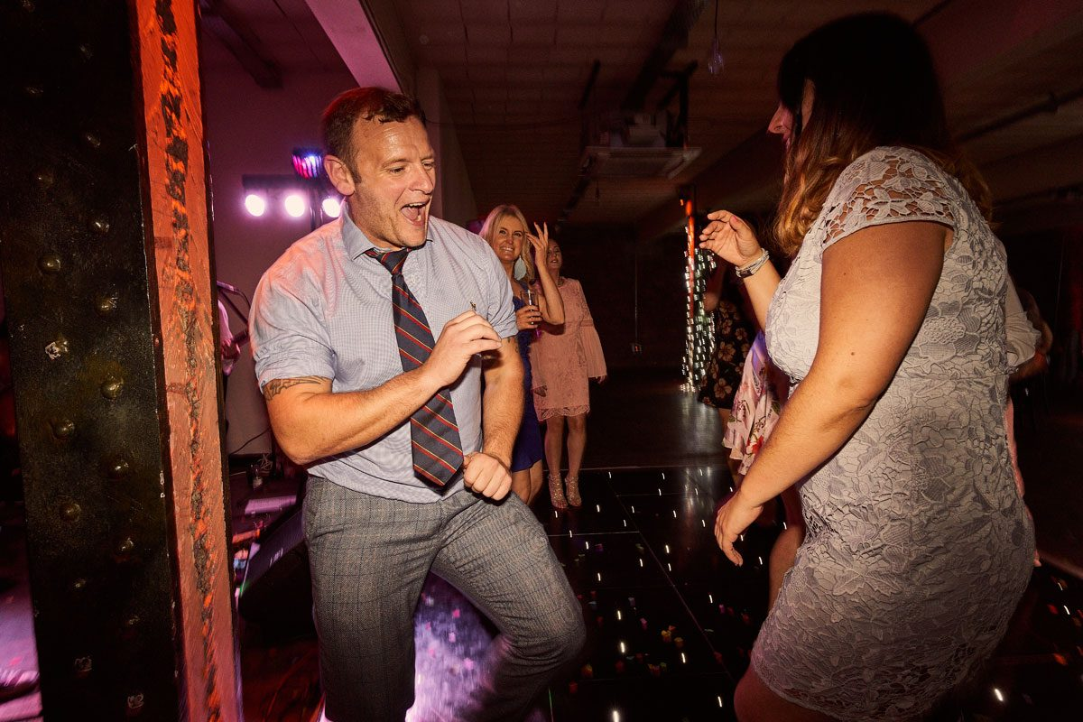 wedding guest partying hard