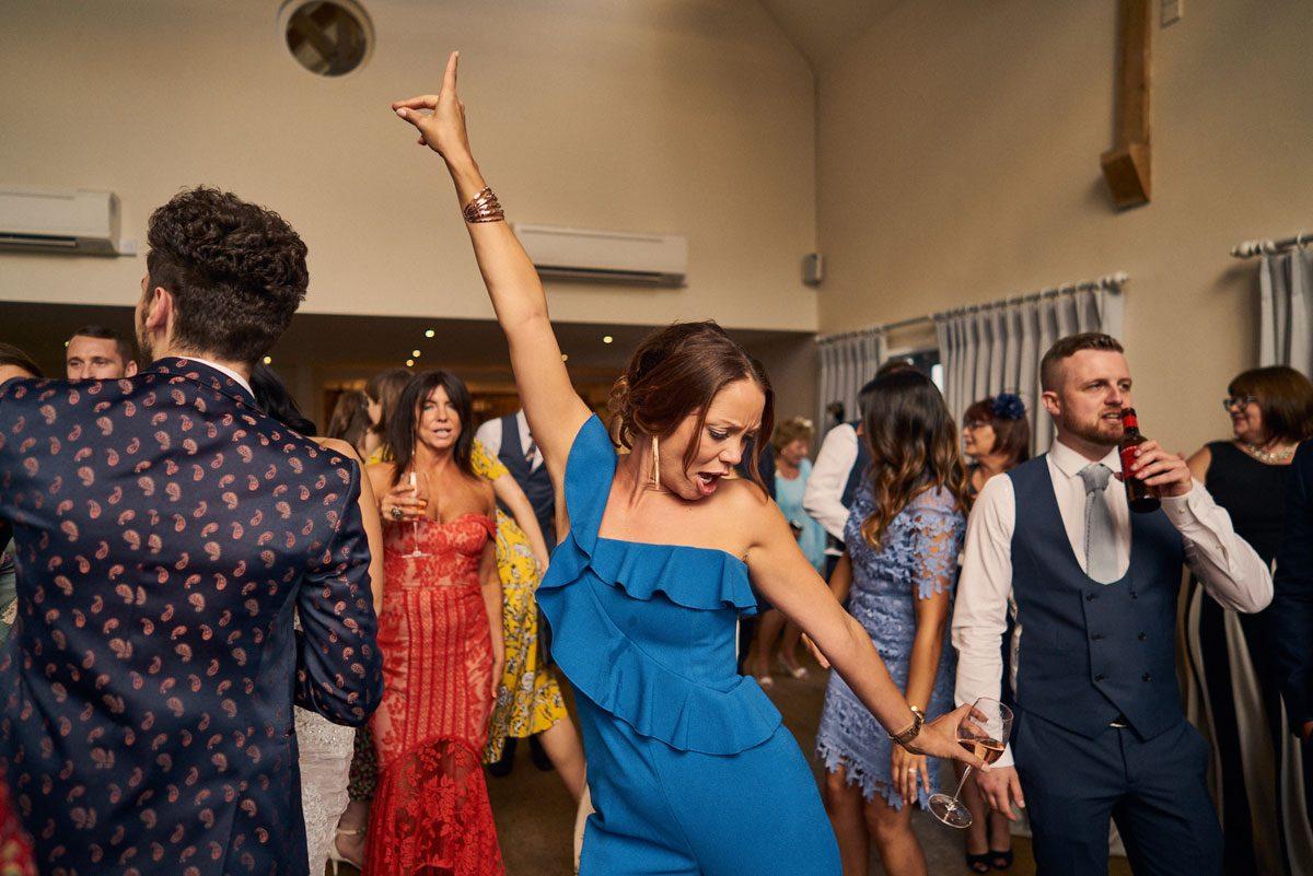 wedding guest having a dance