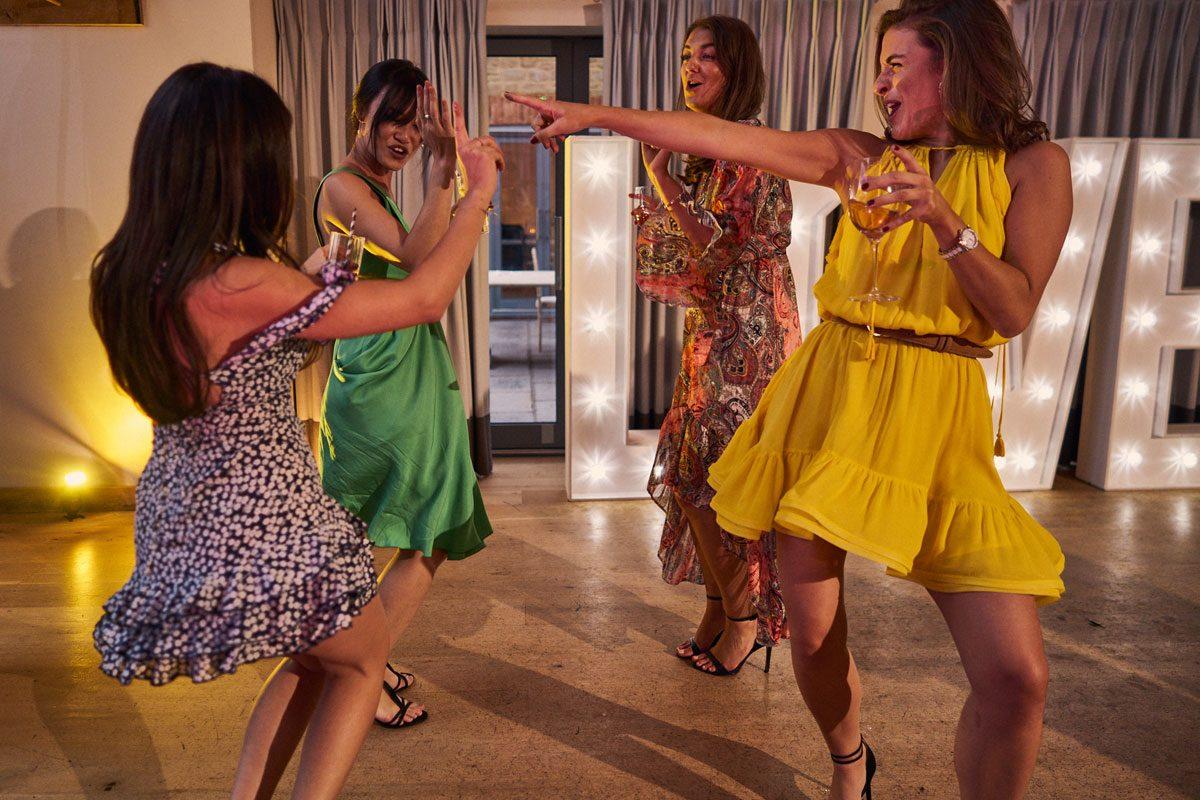 wedding guest having a dance off