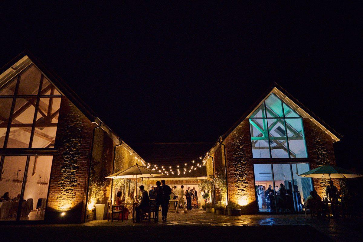 Millbridge Court terrace and hall at night