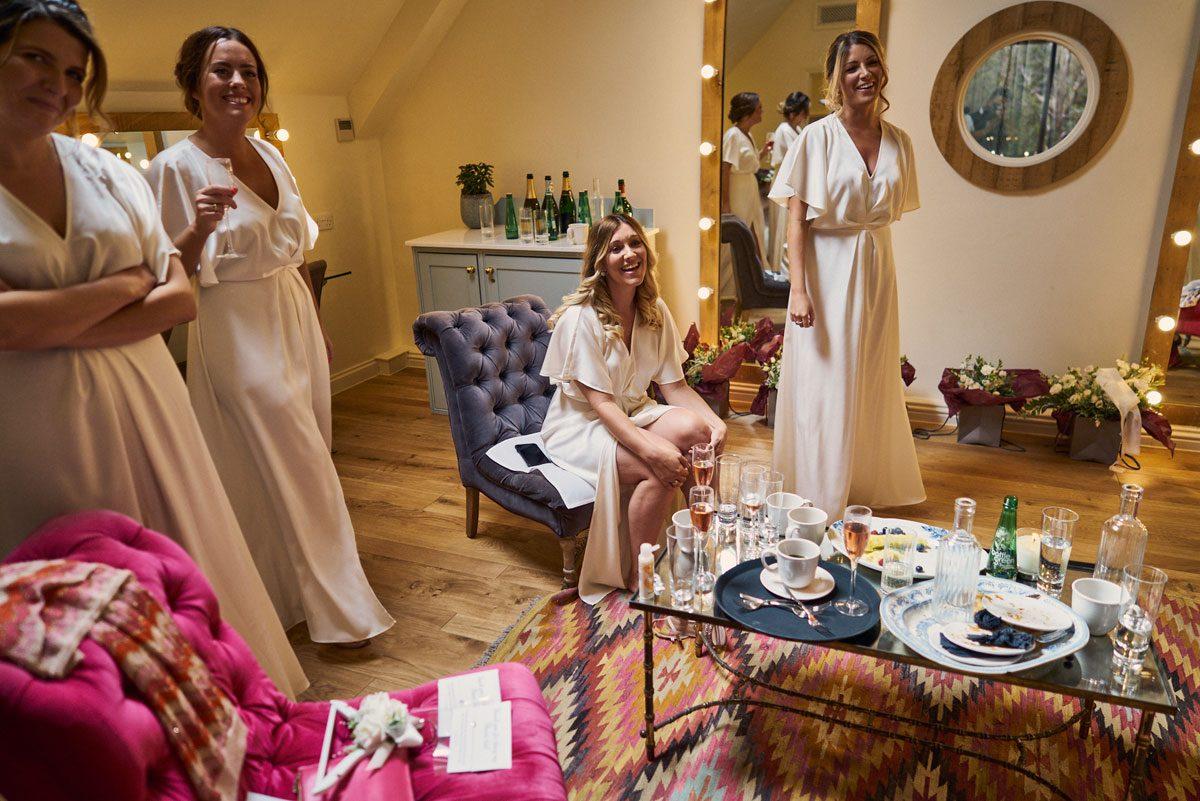 Bridesmaids reaction to Bride's wedding dress