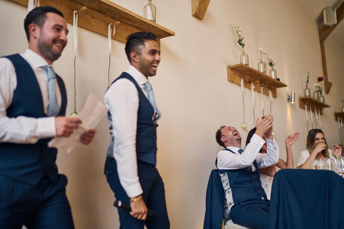 Best Men making their opening joke