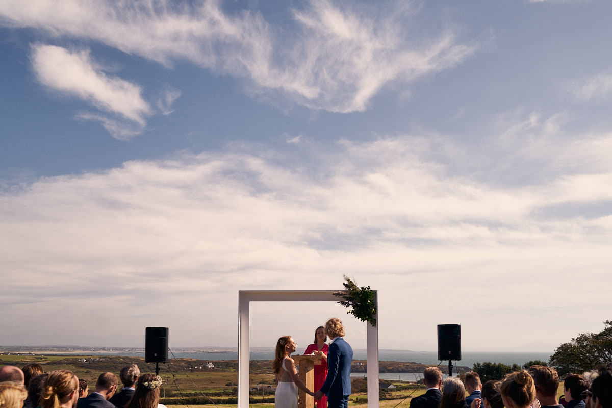 Outdoor wedding on Anglesey, North Wales