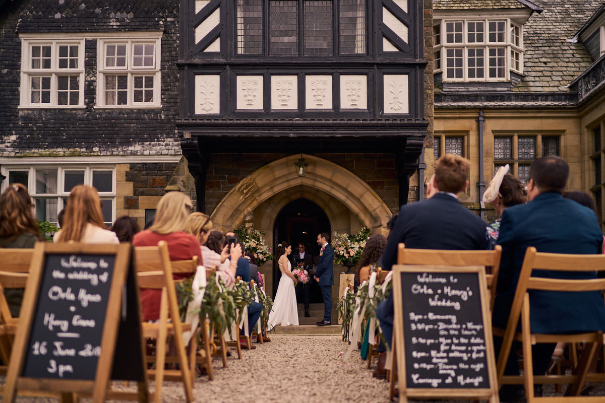 Outdoor wedding at Plas Dinam Country House
