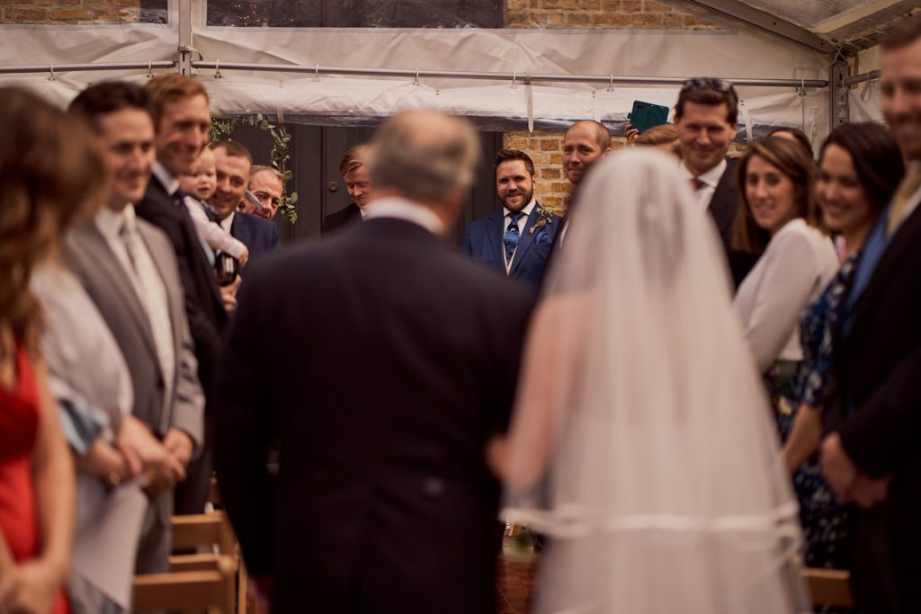 grooms reaction to seeing his bride for the first time