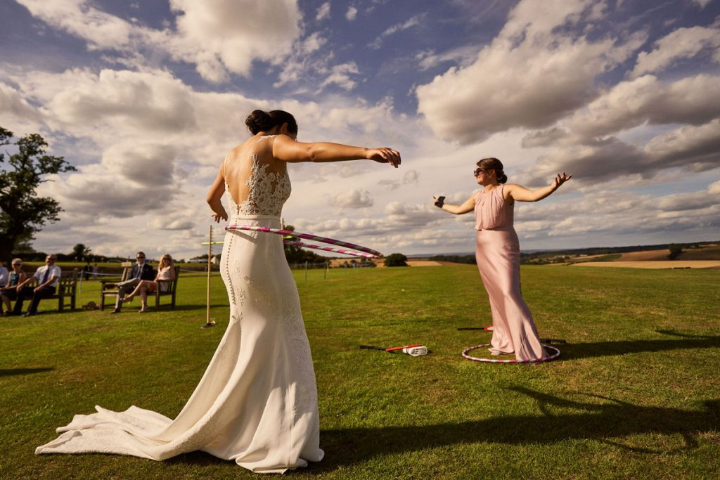 Bride & Bridesmaid hola hooping