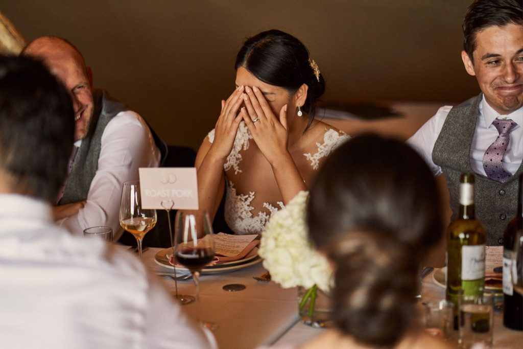 Bride embarrassed by Best Man speech