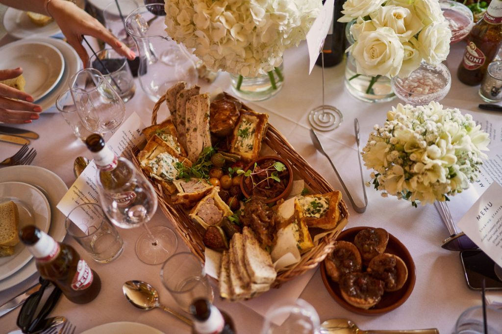 delicious sharing platter for wedding breakfast