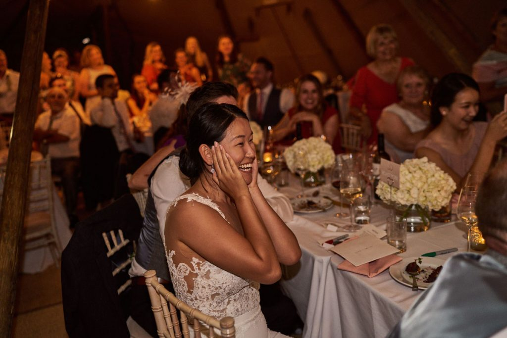 Bride can't believe the Best Men wrote and recorded a song for them