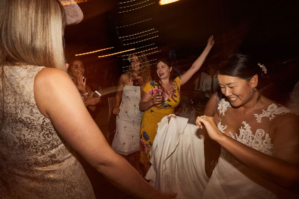 drunken dancing at tipi wedding
