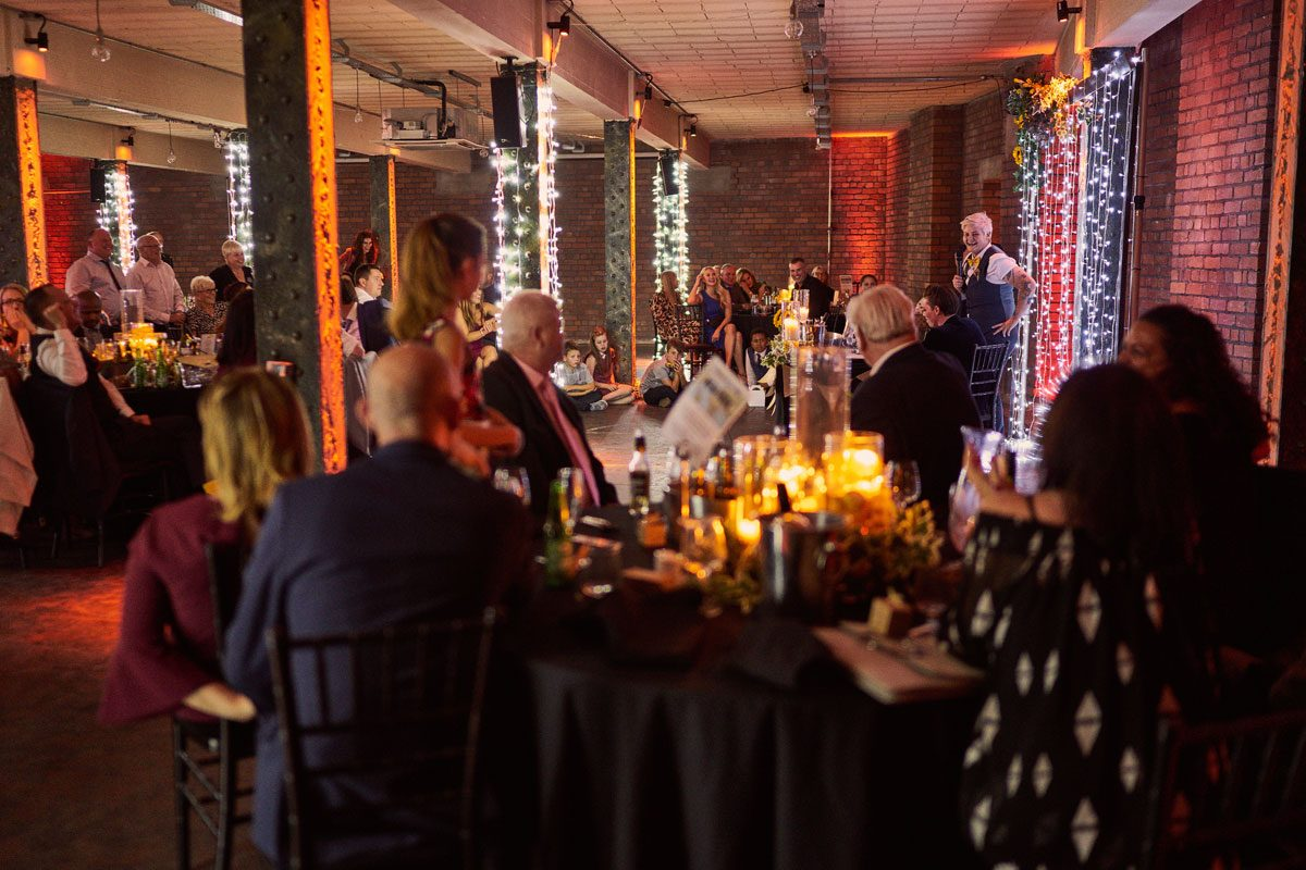 Speeches at Victoria Warehouse