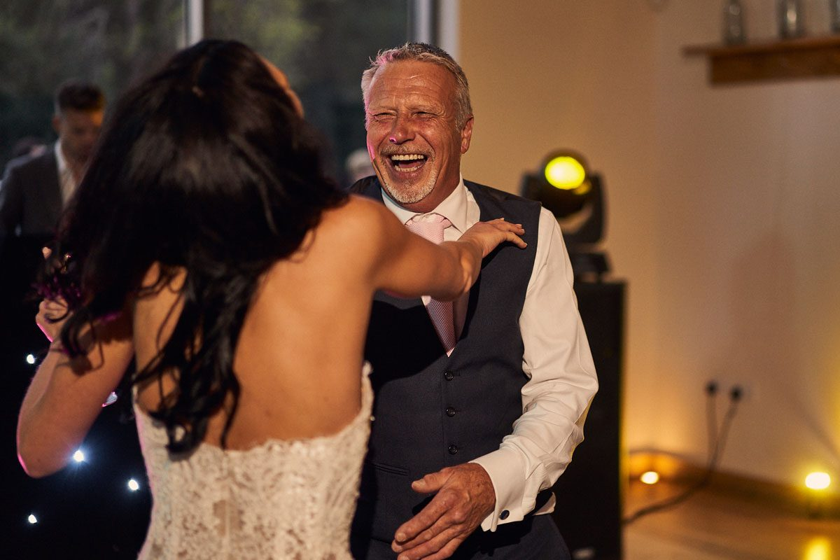 Bride having a dance with her dad