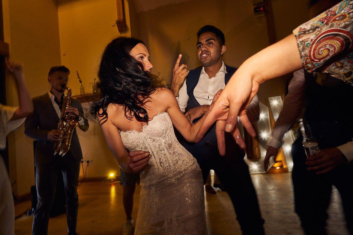 Bride having a dance