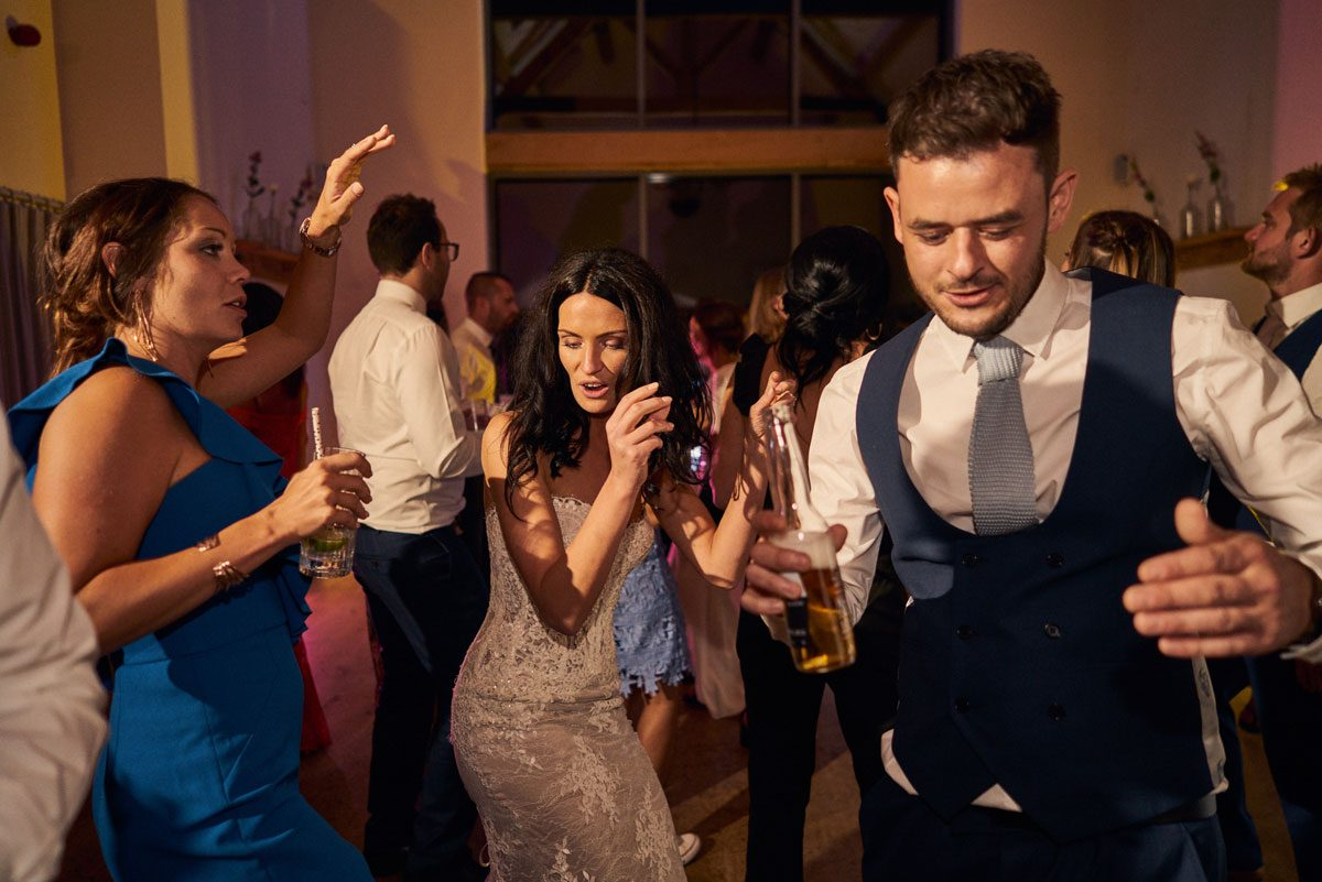 Bride busting the moves