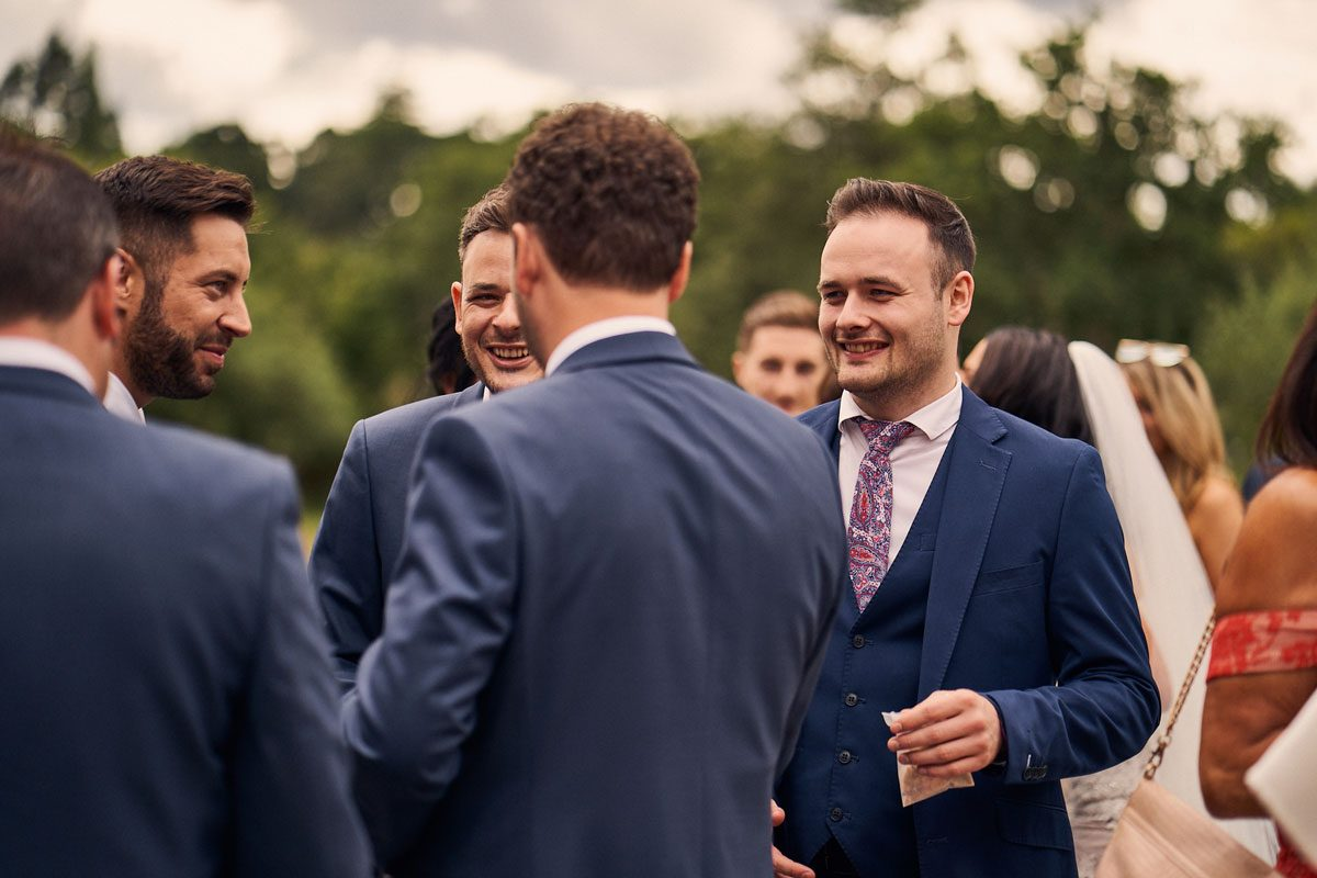 Best Men congratulating  Groom