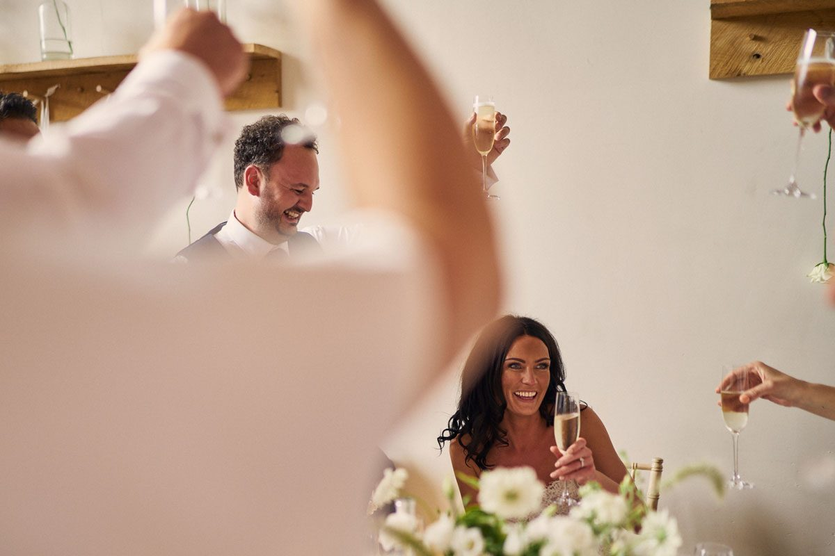 Groom toasting his new wife