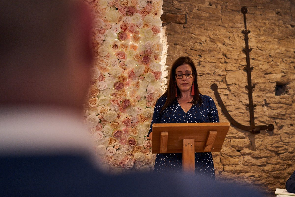 reading at the great tythe barn