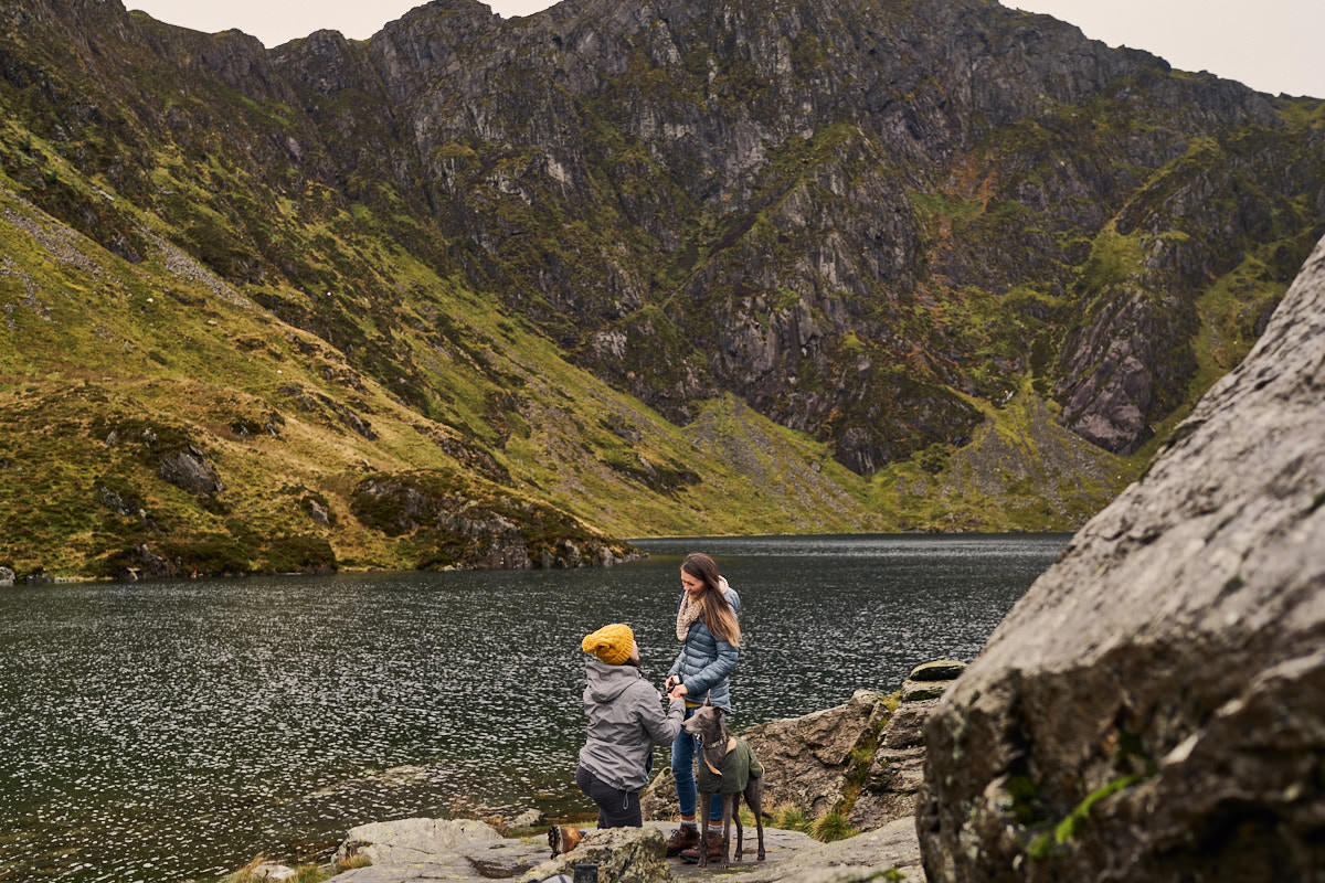Surprise proposal by the lake in Snowdonia